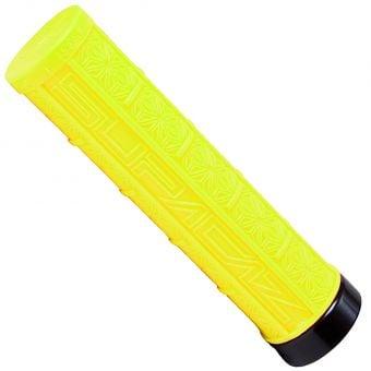 Supacaz Grizip 32mm Lock-On MTB Grips Neon Yellow