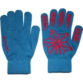 Supacaz Knitz Long Finger Winter Gloves Blue/Pink