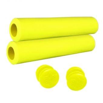 Supacaz Siliconez SL 30mm XC Grips Neon Yellow