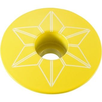 Supacaz Star Capz Powder Coated TDF Yellow