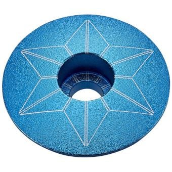 Supacaz Star Capz Top Cap Anodized Aqua