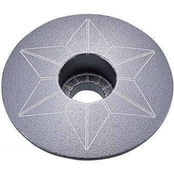 Supacaz Star Capz Top Cap Anodized Gunmetal