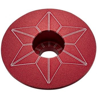 Supacaz Star Capz Top Cap Anodized Red