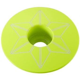 Supacaz Star Capz Top Cap Neon Yellow