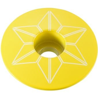 Supacaz Star Capz Top Cap Yellow