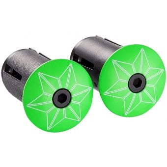 Supacaz Star Plugz Bar Plugs Neon Green