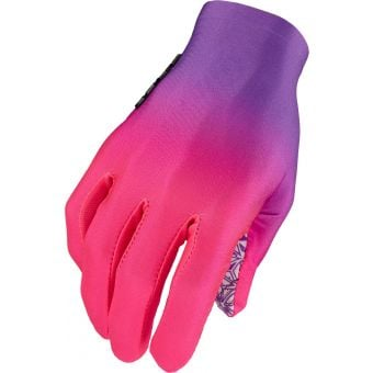 Supacaz SupaG Long Finger Gloves Gradient Neon Purple/Pink