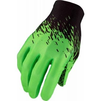 Supacaz SupaG Long Finger Gloves Splash Black/Neon Green X-Large