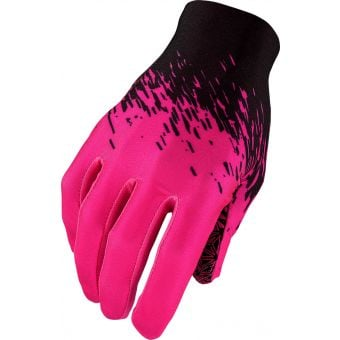 Supacaz SupaG Long Finger Gloves Splash Black/Neon Pink X-Large