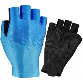 Supacaz SupaG Short Finger Gloves Neon Blue/Ice Blue