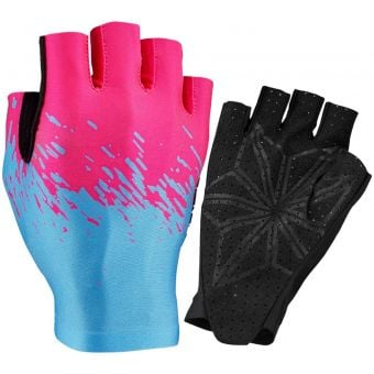 Supacaz SupaG Short Finger Gloves Neon Blue/Pink