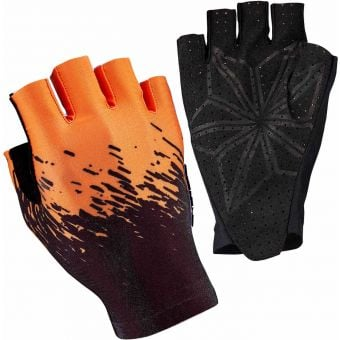 Supacaz SupaG Short Finger Gloves Splash Black/Neon Orange X-Large