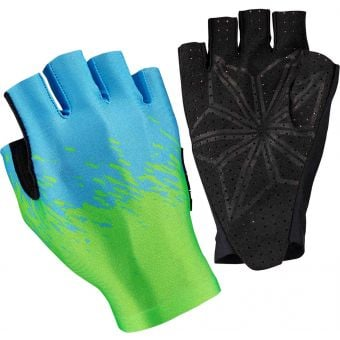 Supacaz SupaG Short Finger Gloves Splash Neon Green/Blue