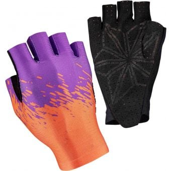 Supacaz SupaG Short Finger Gloves Splash Neon Orange/Purple