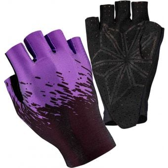 Supacaz SupaG Short Finger Gloves Splash Neon Purple/Black
