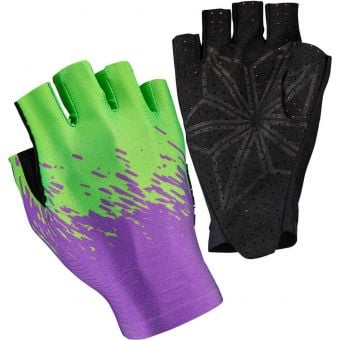 Supacaz SupaG Short Finger Gloves Splash Neon Purple/Green