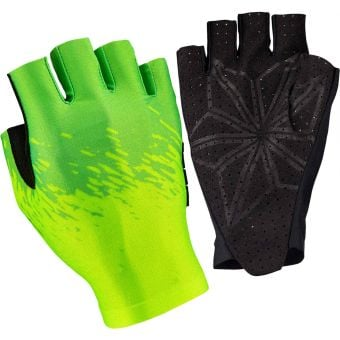 Supacaz SupaG Short Finger Gloves Splash Neon Yellow/Green