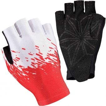 Supacaz SupaG Short Finger Gloves Splash White/Red