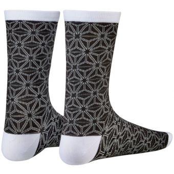 Supacaz SupaSox Asanoha Cycling Socks Black/White