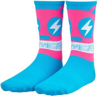 Supacaz SupaSox Rad Cycling Socks Neon Blue Bear