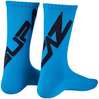 Supacaz SupaSox Twisted Socks Neon Blue/Black 2020