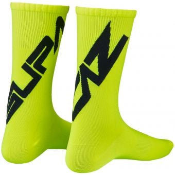 Supacaz SupaSox Twisted Socks Neon Yellow/Black 2020