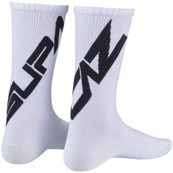 Supacaz SupaSox Twisted Socks White/Black 2020