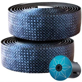Supacaz Super Sticky Kush Bling Bar Tape Blue Carbon