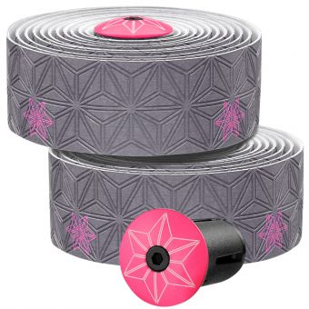Supacaz Super Sticky Kush Galaxy Bar Tape Gunmetal/Neon Pink
