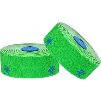Supacaz Super Sticky Kush Galaxy Bar Tape Neon Green/Blue