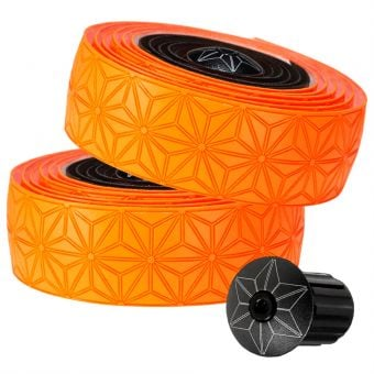 Supacaz Super Sticky Kush Star Fade Bar Tape Neon Orange