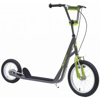 "Torker Power Plant 16""/12"" Scooter Grey/Neon Green"