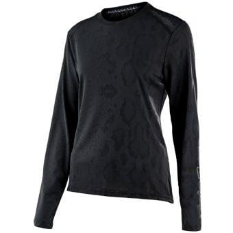 Troy Lee Designs 22 ER Womens Lilium LS MTB Jersey Snake Black 2022