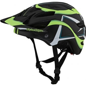 Troy Lee Designs A1 MIPS Youth MTB Helmet Welter Black/Green One Size