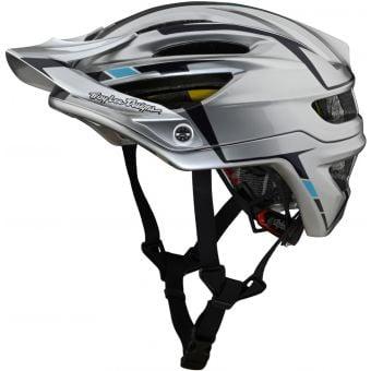 Troy Lee Designs A2 MIPS MTB Helmet Sliver Silver/Burgundy