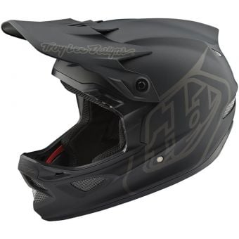 Troy Lee Designs D3 AS Fiberlite Full Face Helmet Mono Black