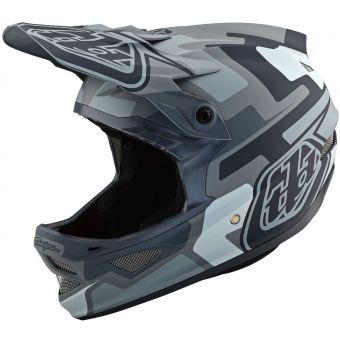 Troy Lee Designs D3 AS Fiberlite Full Face Helmet Speedcode Grey