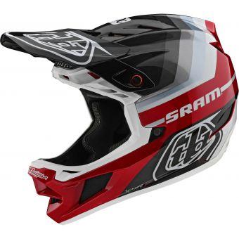 Troy Lee Designs D4 MIPS Carbon Full Face Helmet Mirage SRAM Black/Red
