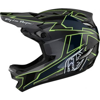 Troy Lee Designs D4 MIPS Full Face Carbon Helmet Graph Grey/Green
