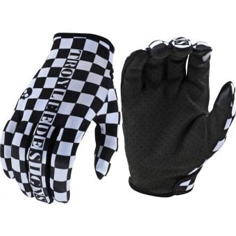 Troy Lee Designs Flowline MTB Gloves Checkers White/Black 2021