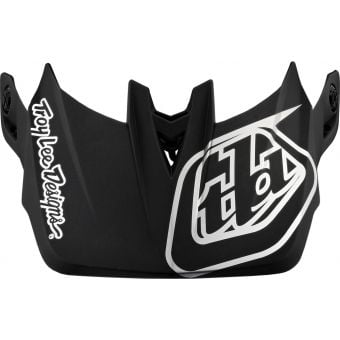 Troy Lee Designs Replacement D4 Helmet Visor Stealth Black/Silver