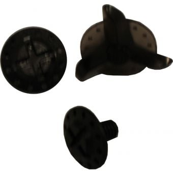 Troy Lee Designs SE4 Helmet Replacement Visor Screws Trans Black 2 Pack