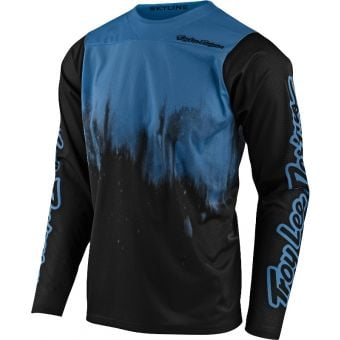 Troy Lee Designs Skyline Long Sleeve MTB Jersey Diffuze Blue Bird/Black 2021