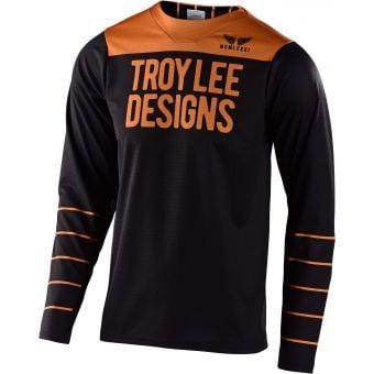 Troy Lee Designs Skyline LS Jersey Pinstripe Black/Gold