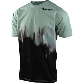 Troy Lee Designs Skyline Short Sleeve Youth MTB Jersey Diffuze Smoke Green/Black 2021