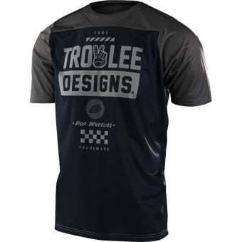 Troy Lee Designs Skyline SS MTB Jersey Camber Navy/Olive 2022