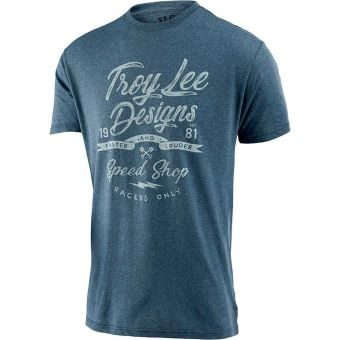 Troy Lee Designs Widow Maker Tee Indigo Black Heather 2021 Small