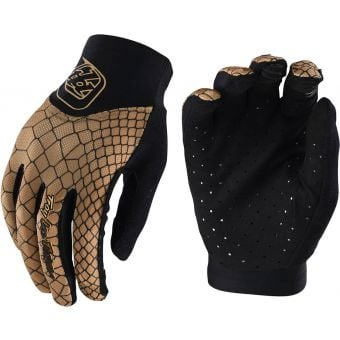 Troy Lee Designs Womens Ace 2.0 MTB Gloves Snake Gold 2021