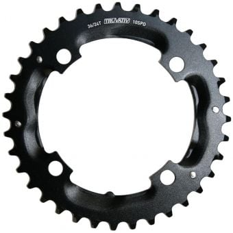 Truvativ 104BCD 36T 4 Bolt S1 2x10sp Alloy MTB Chainring Blast Black