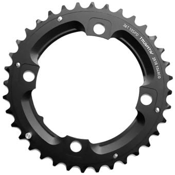 Truvativ 10S 104BCD AL5 LP MTB Chainring Blast Black 36T